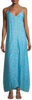 Letarte V-Neck Sleeveless Printed Maxi Dress