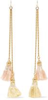 Ben-Amun Gold-plated tassel earrings