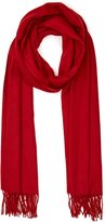 Reiss Temple - Oversized Fringed Scarf in Red, Womens