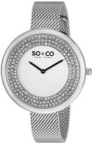 SO&CO New York Women's 'SoHo' Quartz Metal and Stainless Steel Casual Watch, Color:Silver-Toned (Model: 5259.1)