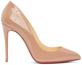 Christian Louboutin Pink Patent Pigalle Follies 100 Heels