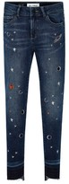 DL1961 Girl's Chloe Galaxy Embroidered Skinny Jeans