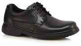 Hush Puppies Black Panelled Leather Lace Up Shoes