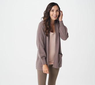 AnyBody Sweater Knit Open-Front Cardigan