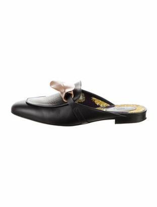 Hermes Oz Leather Mules Black