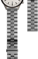 Uniform Wares Men's linked watch bracelet with butterfly clasp in PVD grey