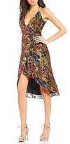 Gianni Bini Morgan Lurex Velvet Faux Wrap Dress