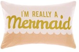 Hiccups Im Really A Mermaid Printed Cotton Cushion