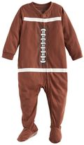 Baby Jammies For Your Families Football Flannel Footed Pajamas