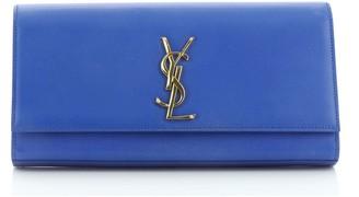 Saint Laurent Classic Monogram Clutch Leather Long