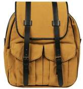 Wilsons Leather Mens, Womens Canvas Backpack W/ Leather Accents