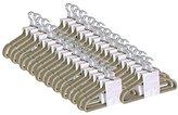 JVL Thin Velvet Touch Space Saving Non-Slip Coat Hangers - Beige Mink, Pack of 200