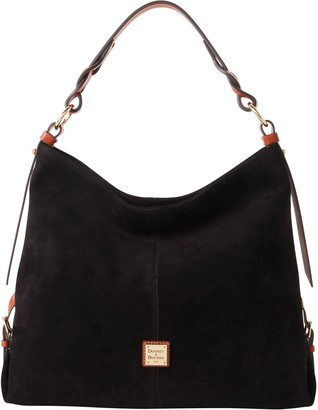 Dooney & Bourke Suede Medium Sac With Twisted Strap
