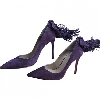 Aquazzura Purple Suede Heels