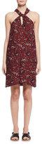 Etoile Isabel Marant Aba Floral Voile Shift Dress, Burgundy