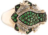Ring 14K Gemstone Frog