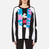 Marc Jacobs Women's Long Sleeve Raglan Sweatshirt Black/Multi