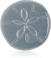 Fitz & Floyd Cape Coral Home Gray Sand Dollar Snack Plate