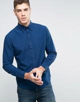 Wrangler Regular Fit Button Down Small Check Shirt Wrangler Blue