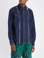 Sacai Distressed denim shirt