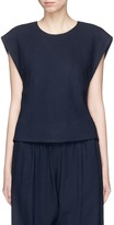 Bassike Cropped piqué sleeveless top