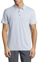 Vince Mix-Stitch Short-Sleeve Polo Shirt