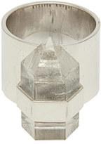 Rebecca Taylor Krystal Knight Wide Ring With Quartz