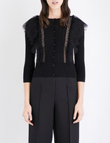 Valentino Wool and lace cardigan
