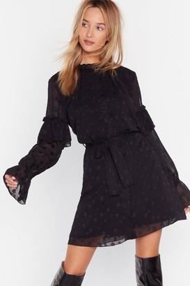 Nasty Gal Womens Don't Star-t Now Mesh Mini Dress - Black
