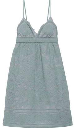 M Missoni Metallic Crochet-knit Cotton-blend Mini Slip Dress