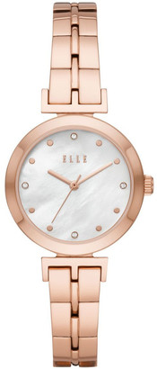 Elle Odeon Rose Gold-Tone Analogue