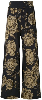 OSKLEN Floral Print Wide-Leg Trousers