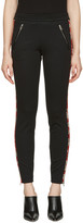Alexander McQueen Black Panelled Zip Trousers