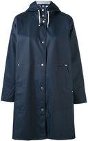 Stutterheim hooded long sleeve raincoat - women - Cotton/Polyester/PVC - XS