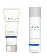 Asap Daily Exfoliating Facial Scrub 200ml + Moisturising Daily Defence SPF50+ (100ml)