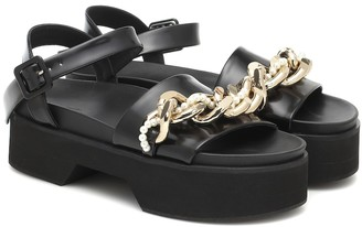 Simone Rocha Embellished leather platform sandals