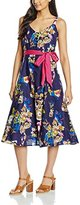 Joe Browns Women's 50'S Garden Party Pleated Floral Sleeveless Dress,8
