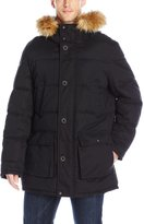 Dockers Faux Down Jacket with Fur Trimmed Hood