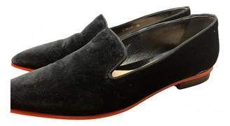 Alexander McQueen Black Velvet Flats