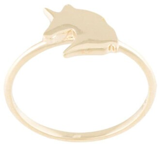 Karen Walker 9Kt gold Unicorn ring