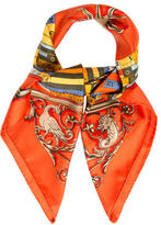 Hermes Orgauphone Silk Jacquard Scarf