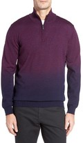 Bugatchi Men's Ombre Quarter Zip Sweater