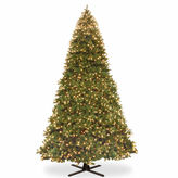 NATIONAL TREE CO National Tree Co Bayberry Spruce Hinged Memory-Shape Pre-Lit Christmas Tree