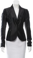 CNC Costume National Woven Notched Lapel Blazer