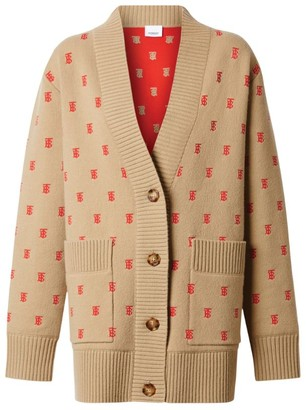 Burberry Monogram Print Cardigan