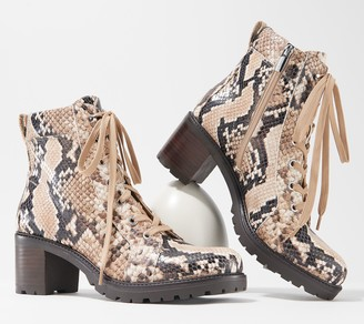 Vince Camuto Leather Lace-Up Ankle Boots - Gaviana