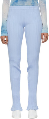 Acne Studios Blue Ribbed Lounge Pants