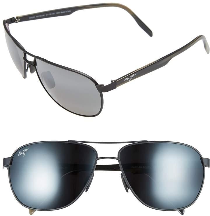 Maui Jim 'Castles - PolarizedPlus(R)2' 61mm Aviator Sunglasses