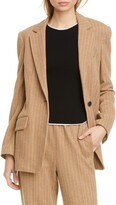 Rag & Bone Ames Pinstripe Cotton Blazer