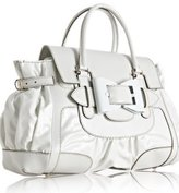 white coated twill 'Queen' medium satchel